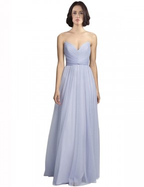 Best Lilac A-Line Tulle Long Roselyn Bridesmaid Dress Ottawa